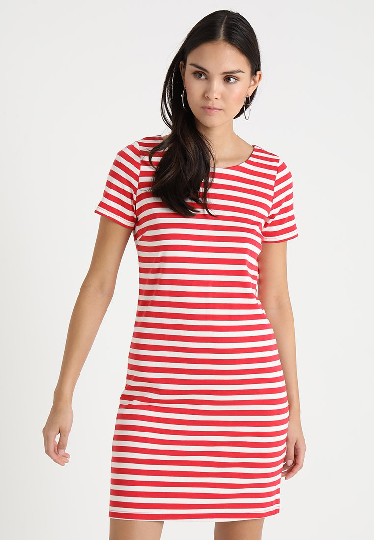 Vila - VITINNY NEW DRESS - Jerseykleid - tomato puree/snow white