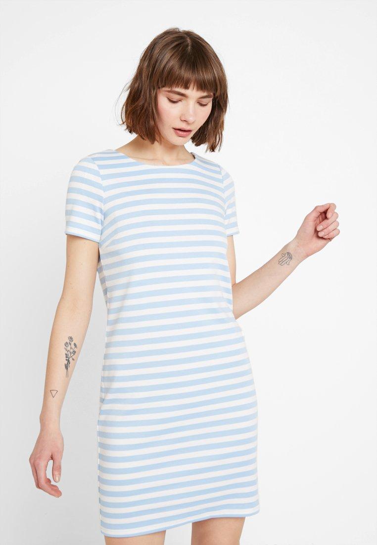 Vila - VITINNY NEW DRESS - Jerseyjurk - powder blue/snow white