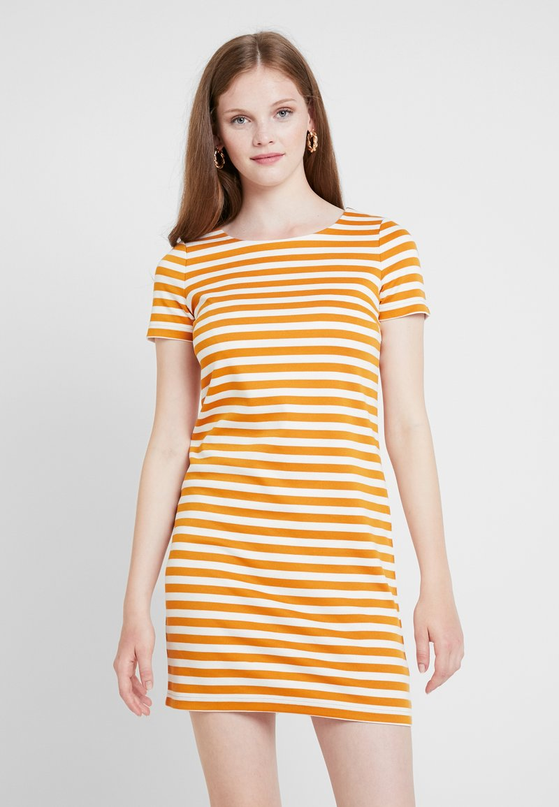 Vila - VITINNY NEW DRESS - Jerseykleid - golden oak/snow white