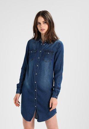 VIBISTA DRESS - Denim dress - dark blue denim/clean