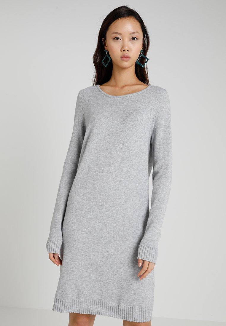 Vila - VIRIL DRESS - Pletené šaty - light grey melange