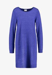 Vila - VIRIL DRESS - Pletené šaty - clematis blue/melange - 3