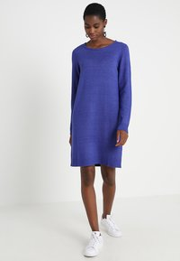 Vila - VIRIL DRESS - Pletené šaty - clematis blue/melange - 1