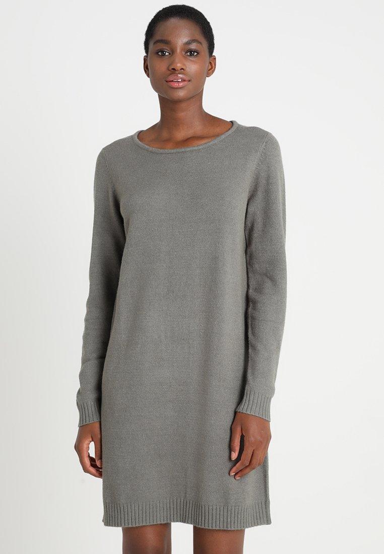 Vila - Pletené šaty - castor gray/melange