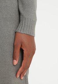 Vila - Strikket kjole - castor gray/melange - 4