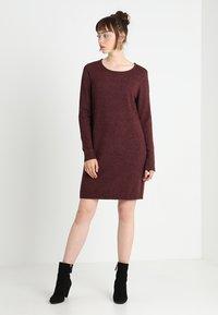Vila - Jumper dress - winetasting/melange - 2