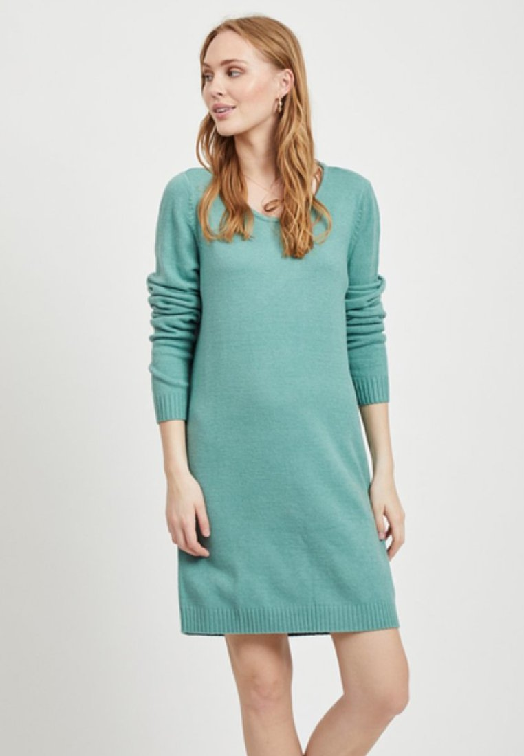 Vila - Pletené šaty - blue