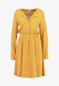 Vila - VIMEANA DRESS - Skjortekjole - nugget gold/white - 5