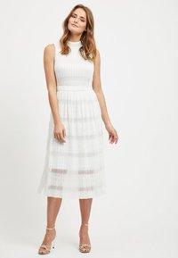Vila - SPITZEN - Maxi dress - offwhite - 0