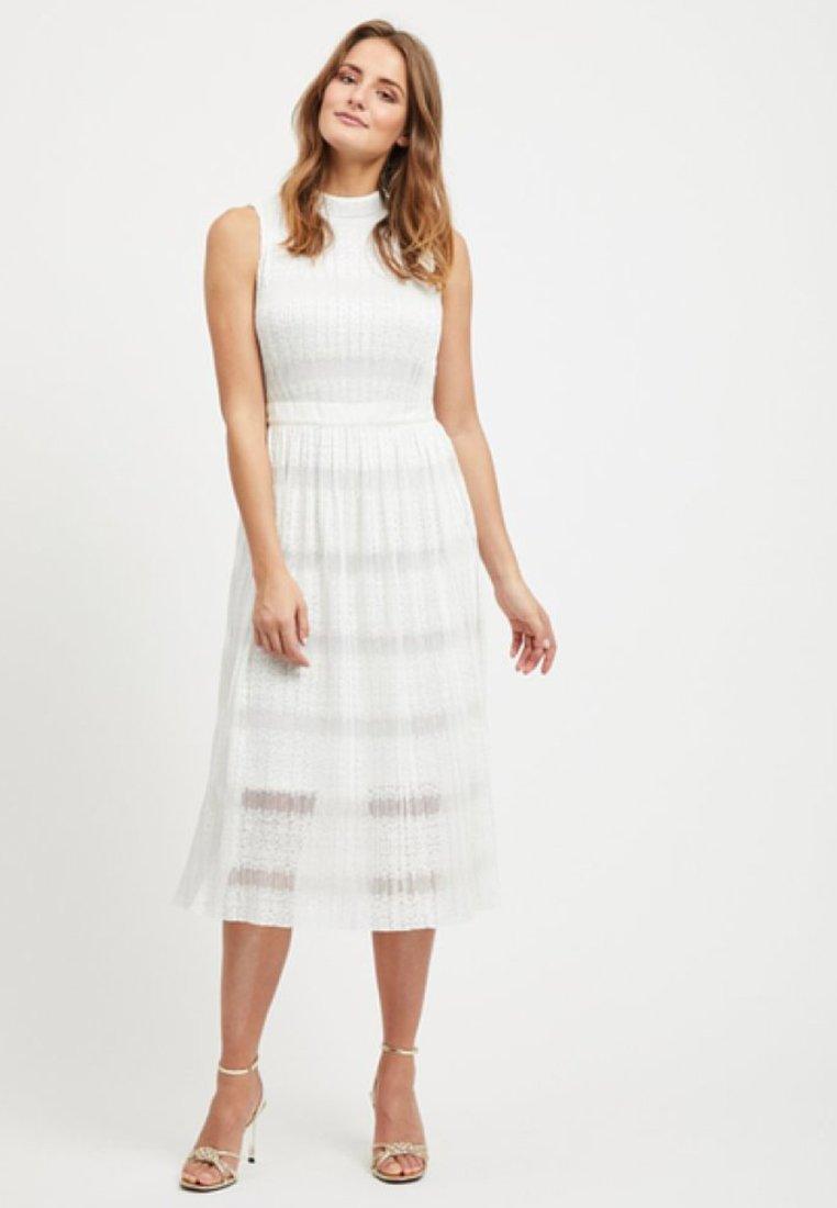 Vila - SPITZEN - Maxi dress - offwhite