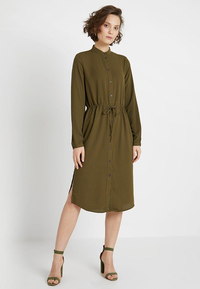 Vila - VIMIRUNA L/S SHIRT DRESS - Blusenkleid - dark olive