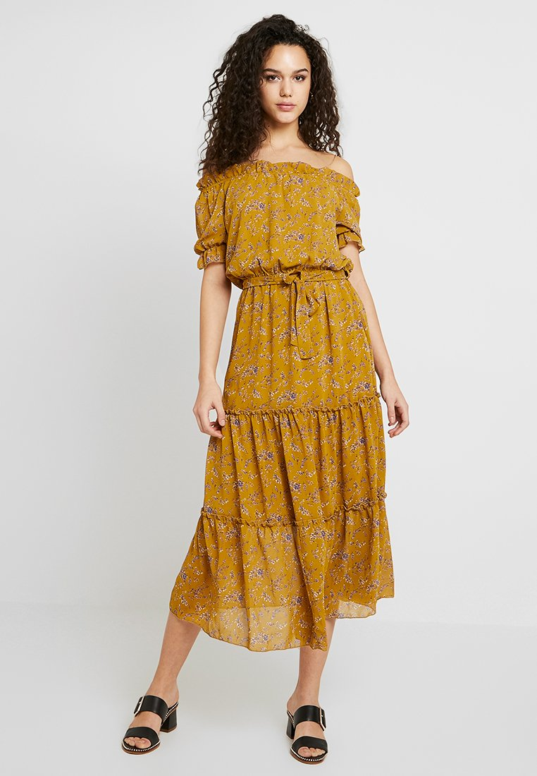 Vila - VIOSELLA DRESS - Freizeitkleid - spicy mustard