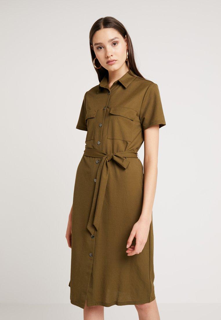 Vila - VISAFINA DRESS - Blusenkleid - dark olive