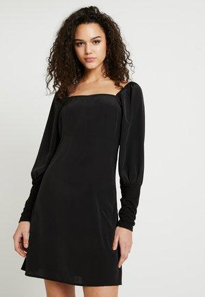 VITOPPI SQUARENECK DRESS - Denní šaty - black