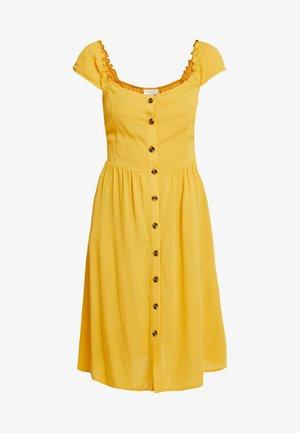 VISUNNY BUTTON DRESS - Skjortekjole - golden rod