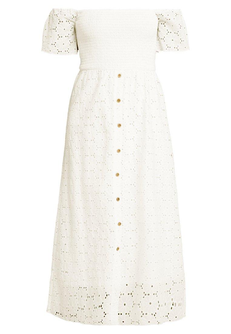 VILA Visabella Snow White Offshoulder Dress