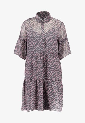 VIMOSAN DRESS - Robe chemise - oil blue/zigza