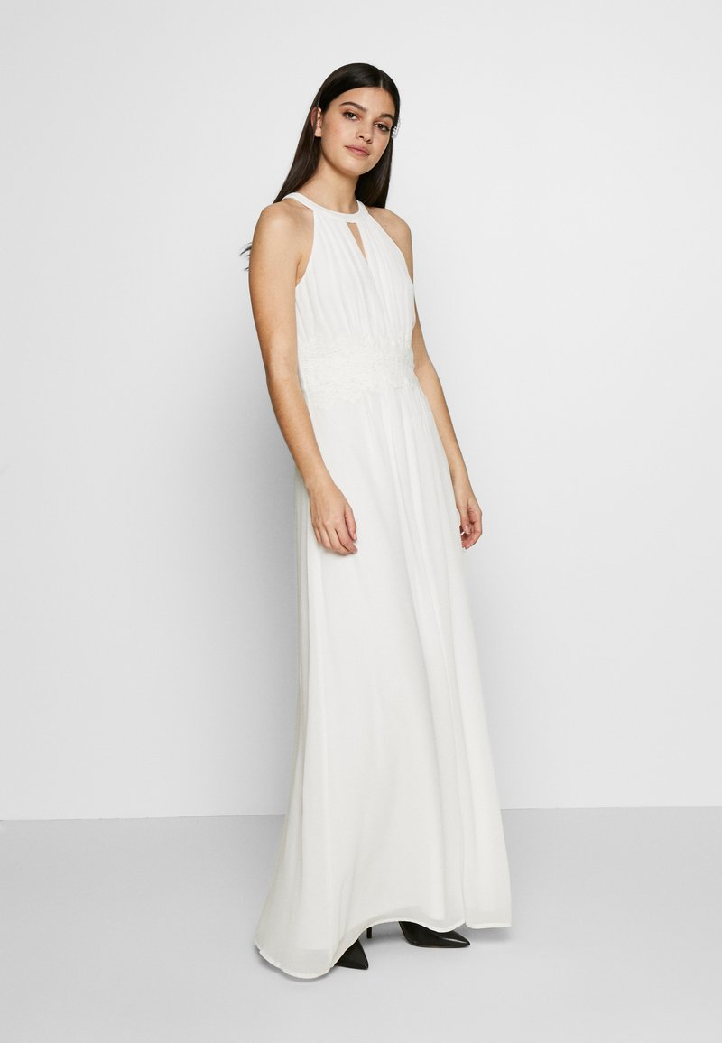 Vila - VIMILINA HALTERNECK MAXI DRESS - Abito da sera - cloud dancer