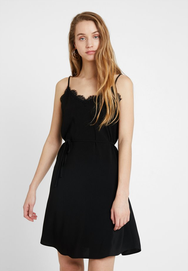 VILAIA STRAP DRESS - Korte jurk - black
