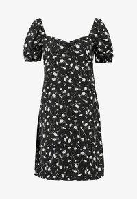 Vila - VINCENTA FLOWER PRINT DRESS - Korte jurk - black - 4