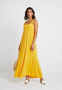 Vila - VICADDY ANKEL DRESS - Maxi šaty - golden rod - 1