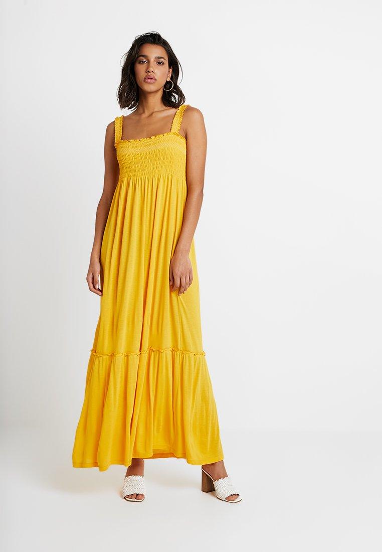 Vila - VICADDY ANKEL DRESS - Maxi dress - golden rod