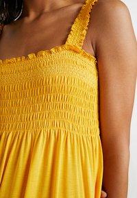 Vila - VICADDY ANKEL DRESS - Maxi šaty - golden rod - 5