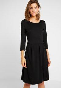 Vila - VITINNY  3/4 SLEEVE DOLL DRESS - Vestito di maglina - black - 0