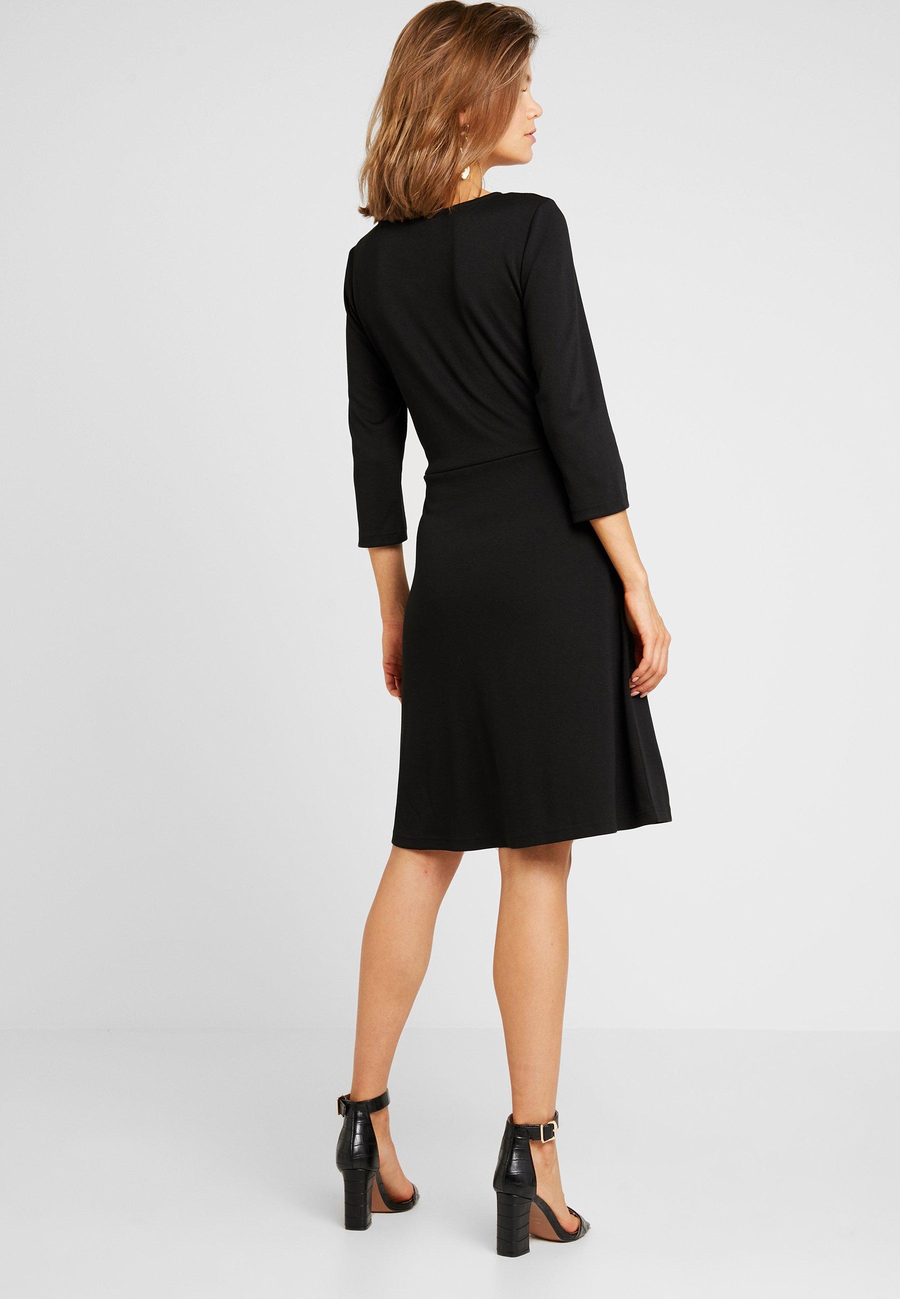 Doll 3 Jersey Vila 4 En DressRobe Black Vitinny Sleeve N0m8nw