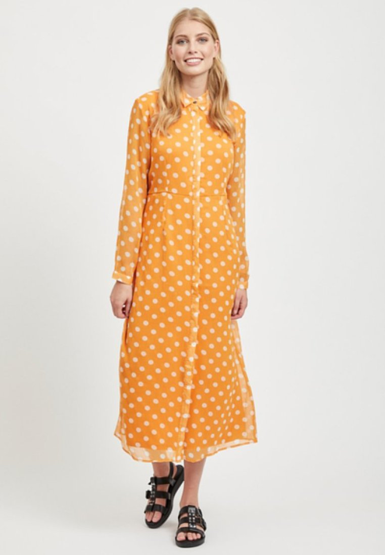Vila - Maxi dress - golden oak