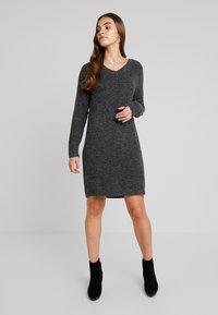 Vila - VIVIKKA  - Jumper dress - dark grey melange - 0