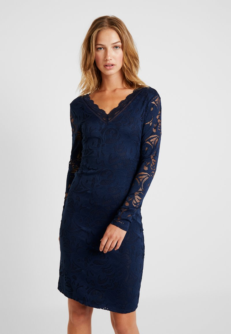 Vila - VISTASIA V NECK DRESS - Cocktailkleid/festliches Kleid - navy blazer