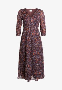 Vila - VIMAISAPAISA MIDI 3/4 SLEEVE DRESS - Vestito estivo - dark purple - 4
