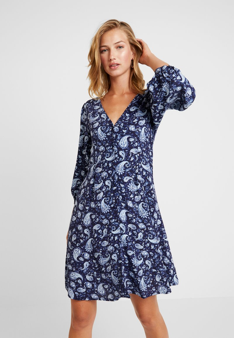 Vila - VIMEDA 3/4 DRESS - Shirt dress - navy blazer