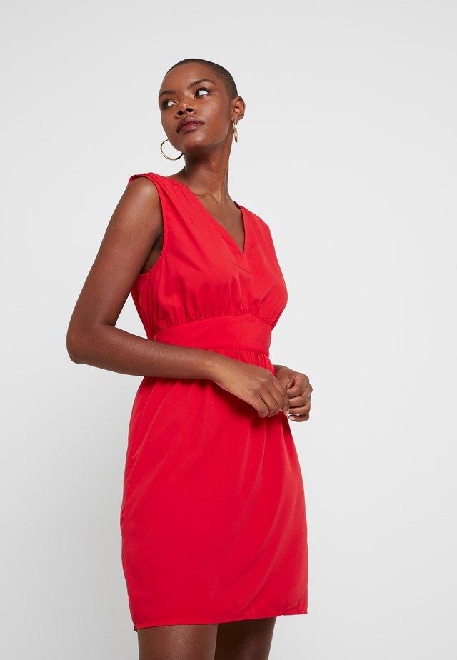 VIWILMA WAIST DETAIL DRESS/ZA - Korte jurk - racing red