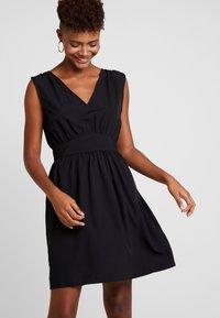 Vila - VIWILMA WAIST DETAIL DRESS/ZA - Korte jurk - black - 0