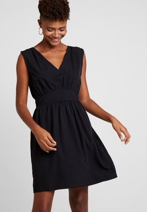 VIWILMA WAIST DETAIL DRESS/ZA - Korte jurk - black