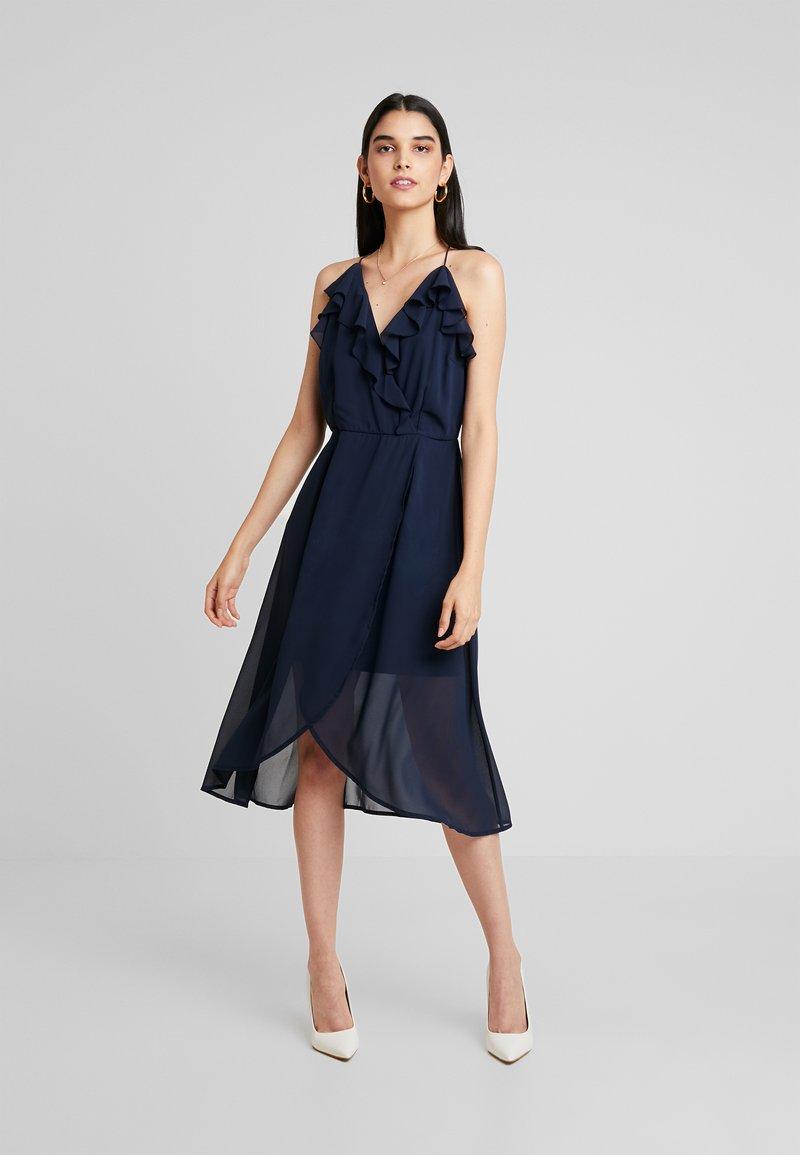 Vila - VIJOYO FLOUNCE DRESS - Cocktail dress / Party dress - navy blazer