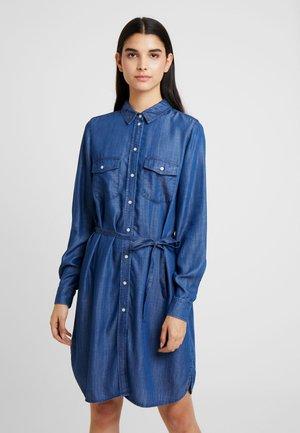 Korte jurk - dark blue denim