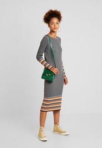Vila - VIHELENI STRIPE DRESS - Jumper dress - medium grey melange/ultramarine - 2