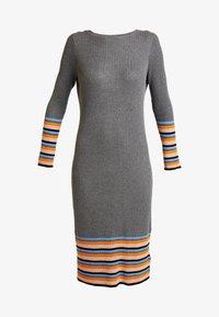 Vila - VIHELENI STRIPE DRESS - Jumper dress - medium grey melange/ultramarine - 5