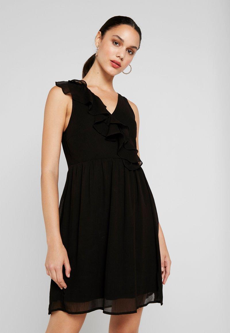 Vila - VIFLOUNCY DRESS - Cocktailkjoler / festkjoler - black