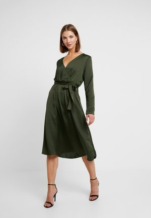 VILIVA MELDI BELT DRESS - Sukienka letnia - dark olive/