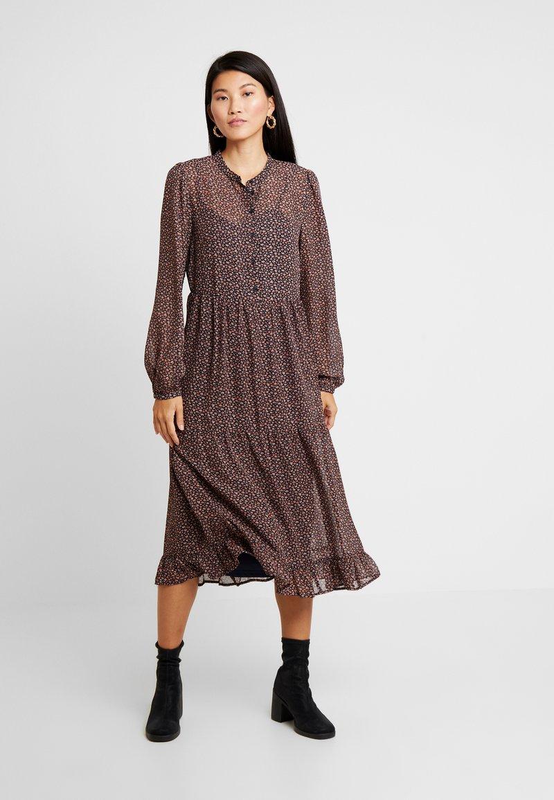 Vila - VIULINE DRESS - Blusenkleid - navy blazer/carmel