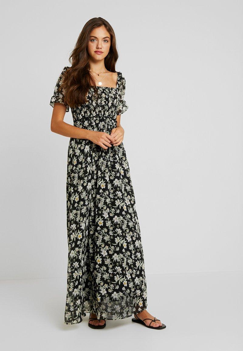 Vila - VIMONE SMOCK DRESS - Maxikleid - black/white