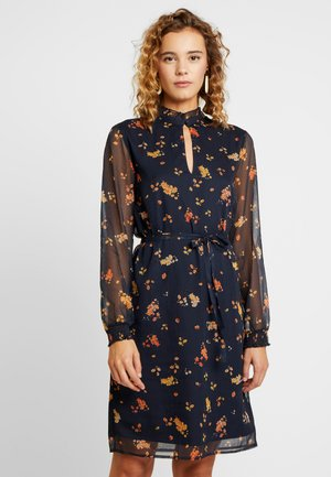 Robe d'été - dark navy/orange
