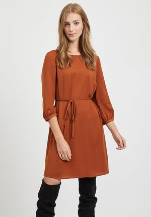VISOLIN DRESS - Korte jurk - cognac