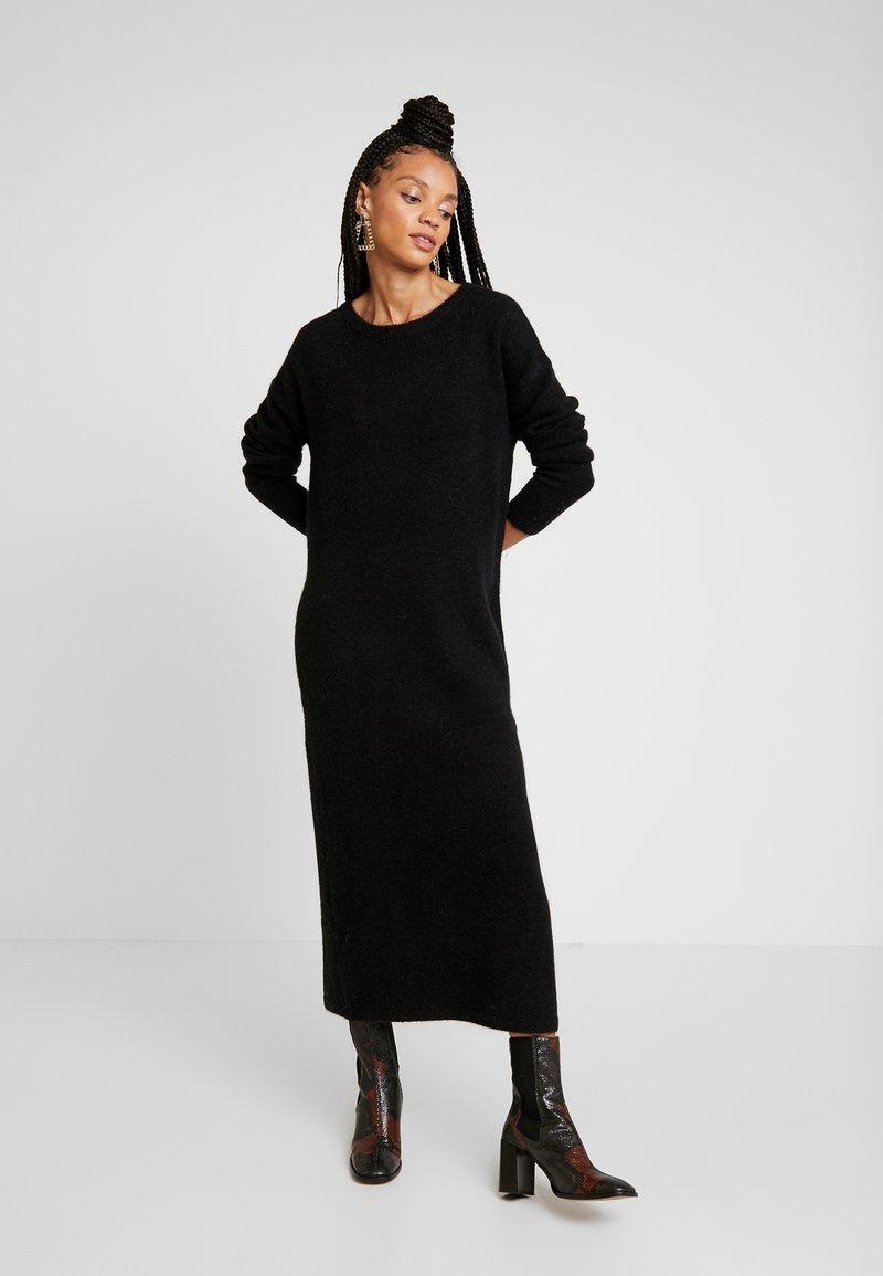 Vila - Gebreide jurk - black