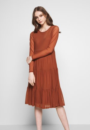 Day dress - copper brown