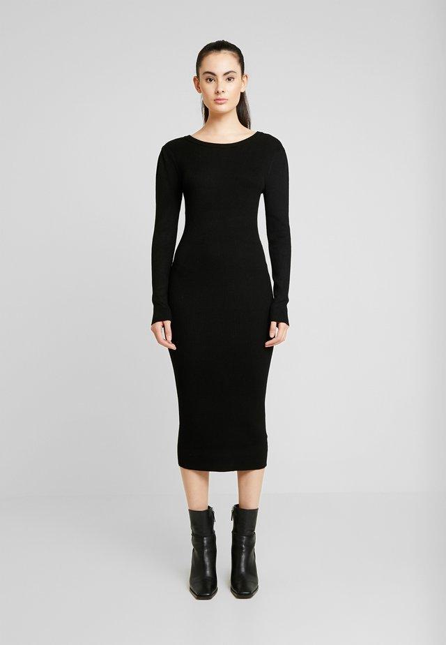 VIBOLONIA MIDI DRESS - Pouzdrové šaty - black